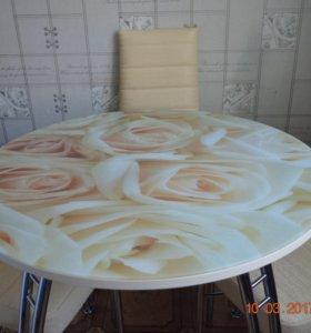 Стол круглый розы