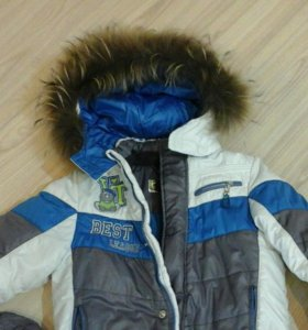 Зимний костюм р,110-116 сапожки р29 в подарок