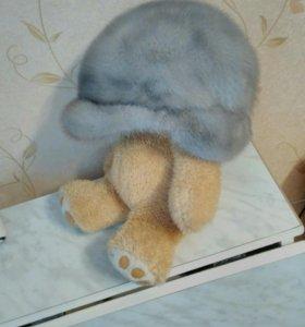 Шапка из голубой норки