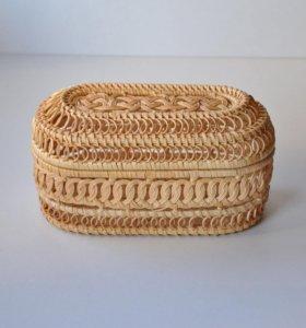 Ажурная плетёная Шкатулка для украшений