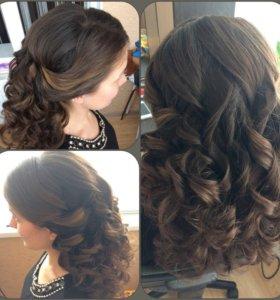 Причёски на дому - локоны, вечерние, свадебные