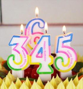 Свечи цифры для украшения праздников для торта
