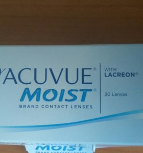 Контактные линзы 1-day Acuvue Moist -4.0 20 шт.