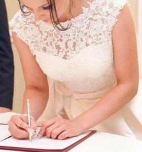 Свадебное платье Naviblue Bridal оригинал с фатой
