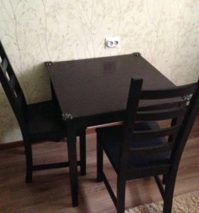 Стол и 3 стула Икеа в отличном состоянии