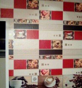 Армстронг, потолочная плитка, наклейка обоев, жалю