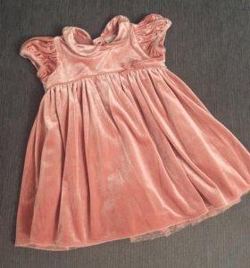 Нарядное платье на девочку Next 80 размер