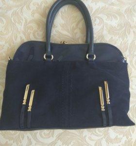 Синяя сумка новая