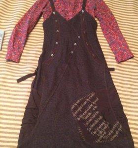 Сарафан и рубашка, 44 размер, на рост 165-170