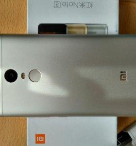 Xiaomi redmi note 3 pro 32Gb + 3чехла, стекло,плен