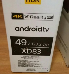 Sony KD-49XD8305 SMART ANDROID 4K UHD