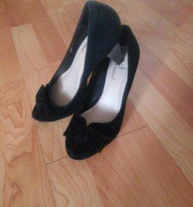 Туфли натуральный замш, размер 35-36