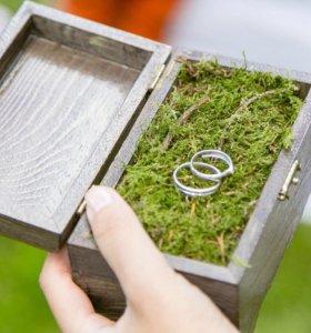 Шкатулка коробочка для колец на свадьбу