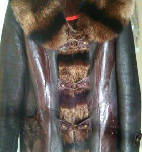 Легкая дубленочка из натуральной кожи
