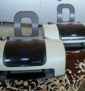 2 Принтера Epson Stylus C43SX