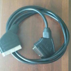 Кабель scart-scart 1м (черный)