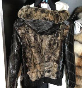 Продаю кожаную куртку мех из кролика
