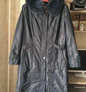 Пальто 56-58 р-ра зимнее