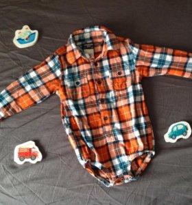 Боди-рубашка фланелевая фирма Oshkosh