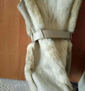 Меховая жилетка из рыси