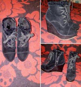 1.сапоги (ботинки)зимние новые 500р. размер-36