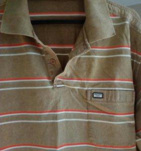 Летняя рубашка поло с длинным рукавом.