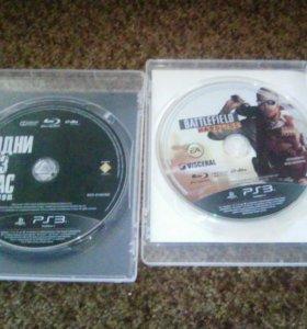 2 игры для ps3 Одни Из Нас и Battlefield hard line