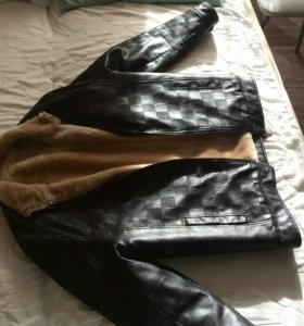 Куртка кожзам,с иск.мехом,весна-осень