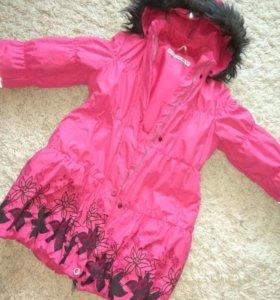 Пальто для девочки зимнее