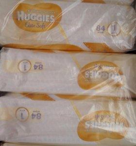 ✨ Подгузники Huggies Elite Soft 1(84шт)