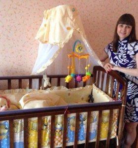 Срочно!!!!!!Детская кроватка, матрас и бортики