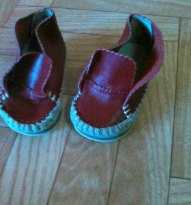 Новые легкие натур. кожаные ботиночки