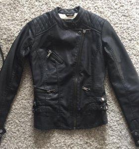кожаная куртка с мехом весна