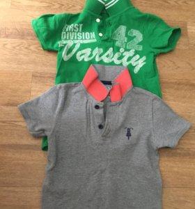 2 футболки мальчик 122
