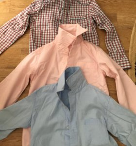 3 Рубашки на мальчика р.122