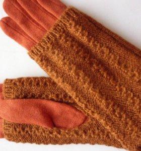 Новые вязаные перчатки