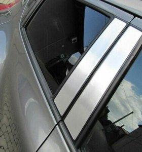Накладки на стойки дверей Peugeot 308 II 5d (2013