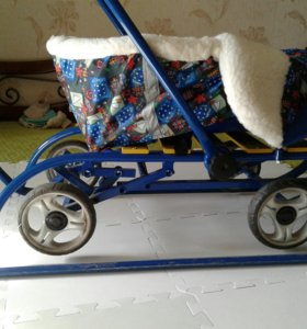 Универсальные санки на колесах