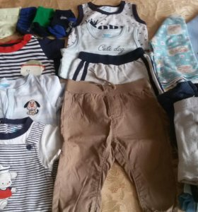 Вещи на малыша пакетом