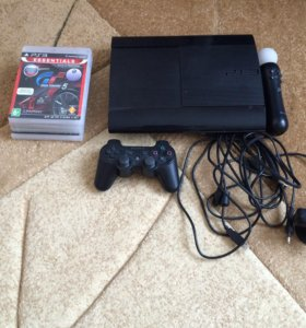 Sony PlayStation 3 Super Slim 500GB с играми