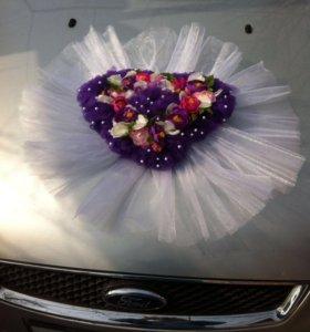 Украшение на свадебную машину. Прокат