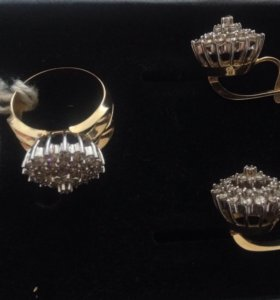 Комплект бриллиантовый