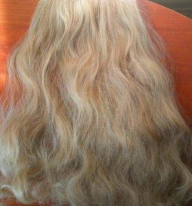 Волосы на заколках б/у