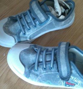 Туфли на мальчика кожаные с замшей.