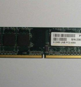 Оперативная память DDR-2 Apacer 512mb unb pc2-4300