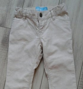 Вельветовые джинсики на 2 годика.