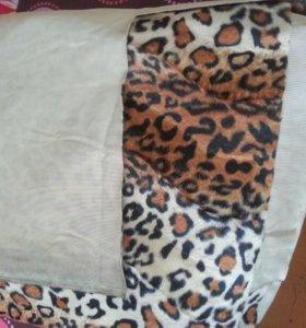 Ткань мех леопард