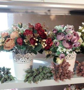 Искусственные цветы(букетики)