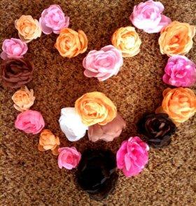 Декоративные розы ручной работы
