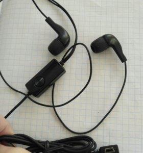 Наушники с микрофоном (mini usb)
